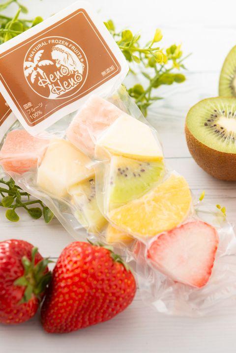 フローズンフルーツ、ひんやりスイーツ、果物、夏、アイス
