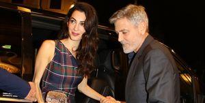 Amal Clooney Tartan outfit