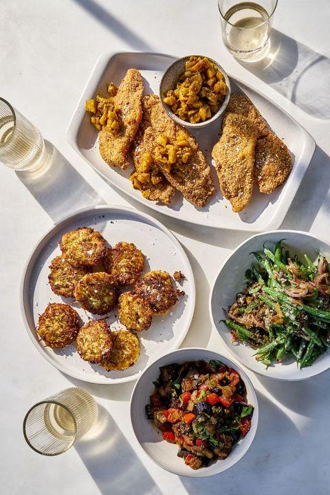 Dish, Food, Cuisine, Ingredient, Vegetarian food, Meal, Produce, Recipe, Fried food, Meze,