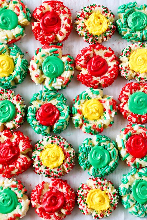thumbprint cookies christmas