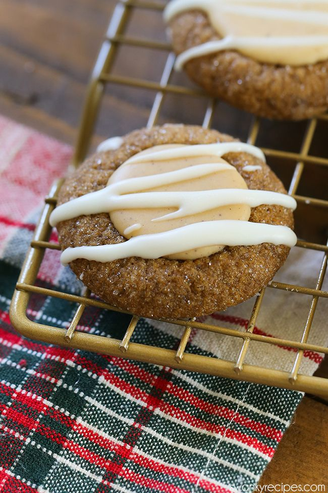 thumbprint cookies gingerbread