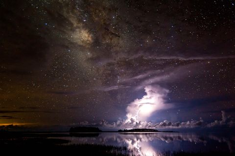 Thunderstorm under milky way © Tianyuan Xiao