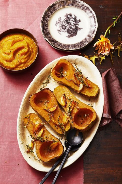 thyme and shallot roasted butternut squash