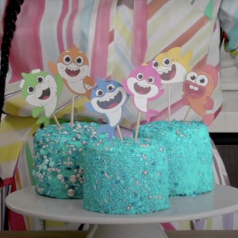 tia mowry baby shark cake