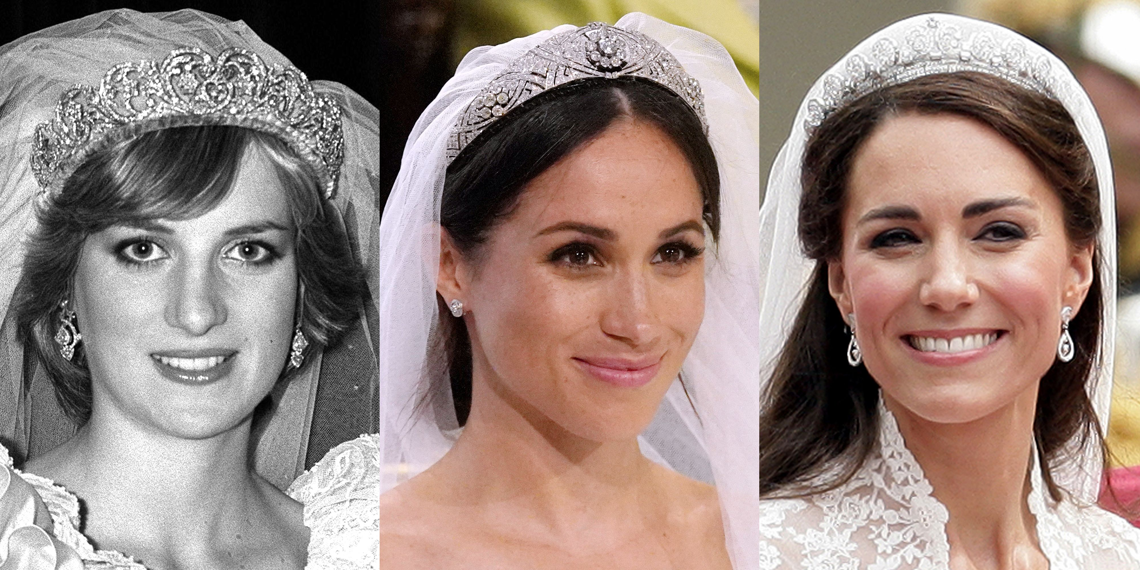 how meghan markle s wedding tiara compares to princess diana s and kate middleton s tiaras how meghan markle s wedding tiara