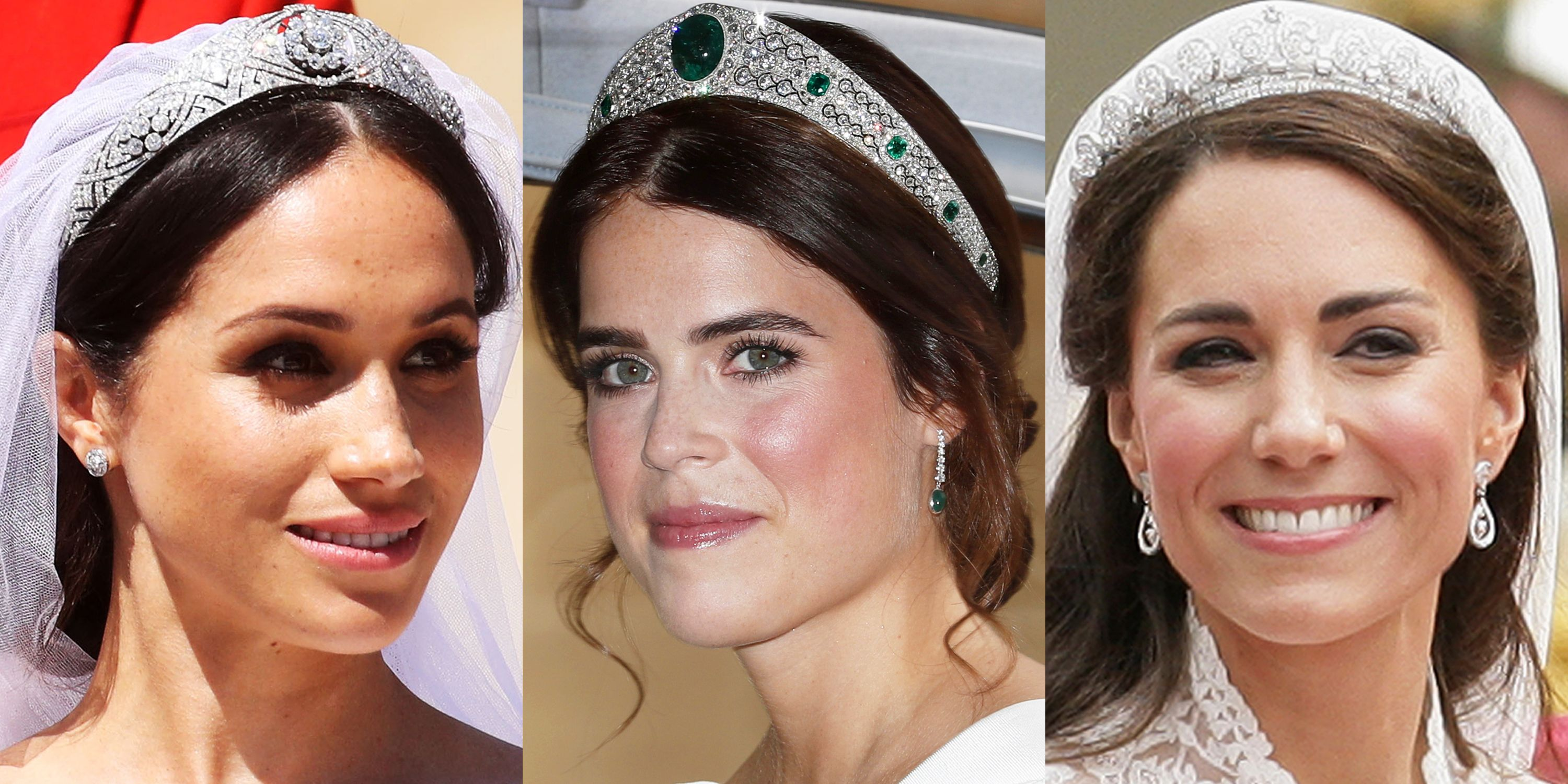 princess eugenie s royal wedding tiara compared to meghan markle and kate middleton s princess eugenie s royal wedding tiara