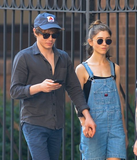 EXCLUSIVE: NEW COUPLE ALERT! Natalia Dyer and Charlie Heaton Hold Hands While Out on a Stroll in New York City.