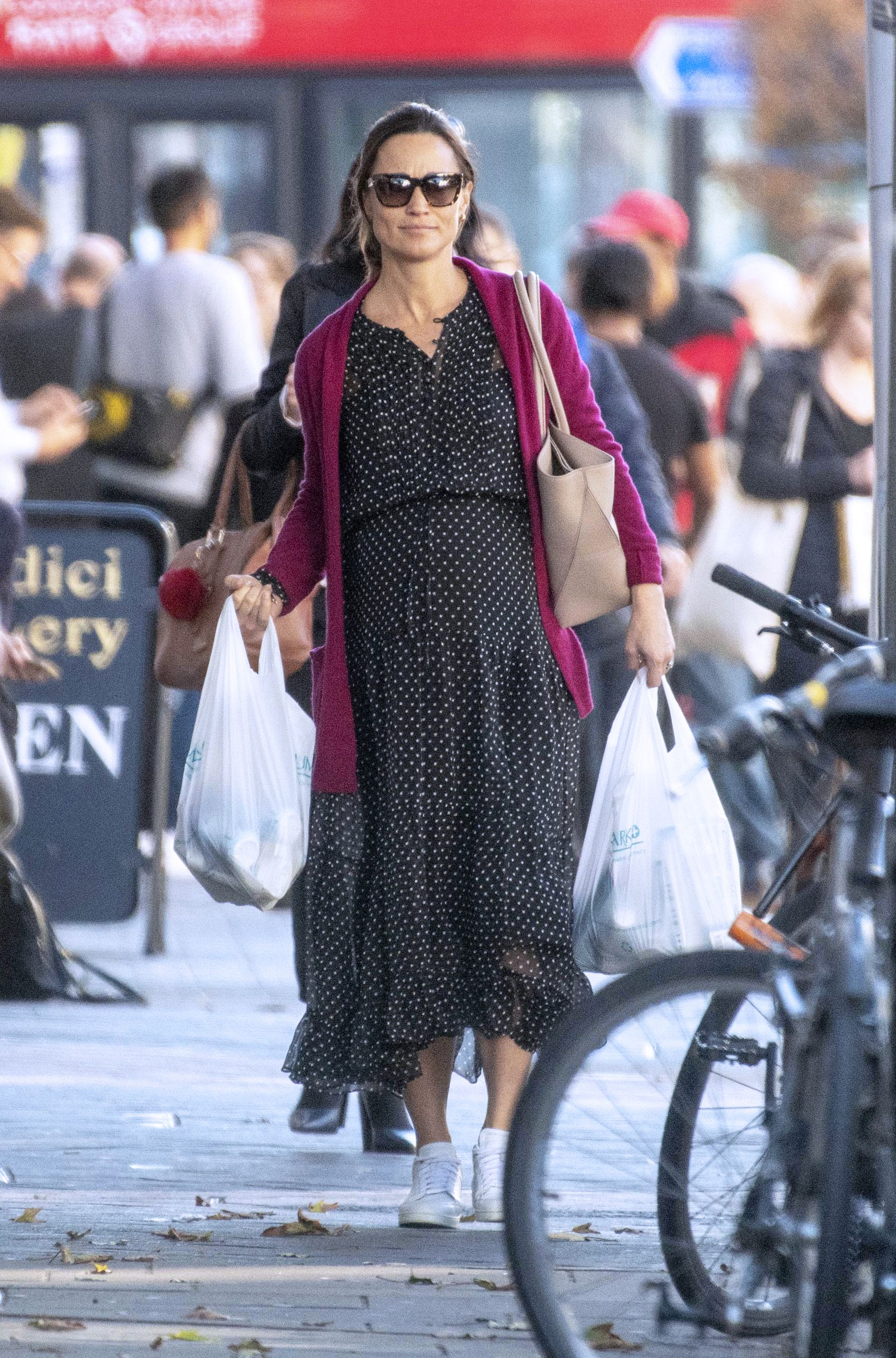 c385ffc21a74d Pippa Middleton Wore an Adorable Polka Dot Dress While Out Grocery Shopping