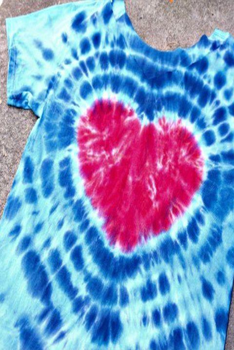 tie dye ideas heart tie dye tshir