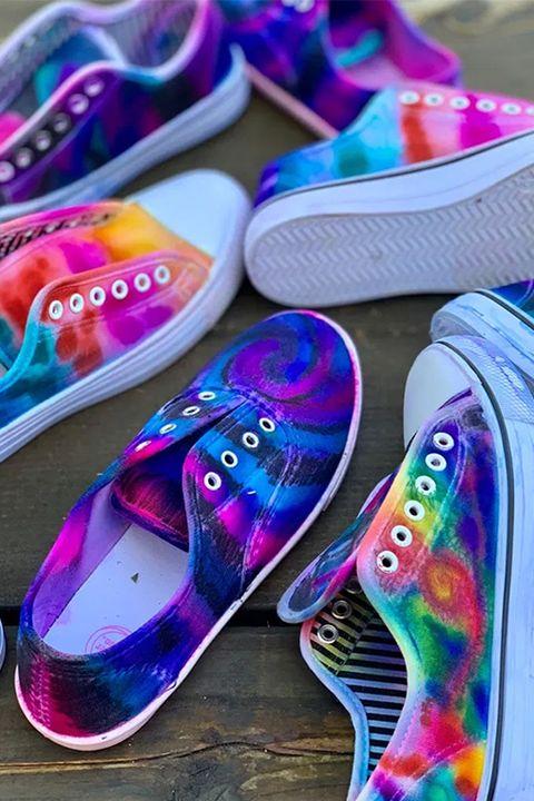 tie dye ideas tie dye shoes