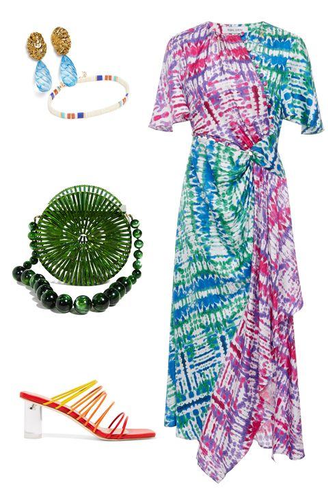 Clothing, Day dress, Dress, Costume, Sleeve, Pattern, Pattern,