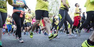 Tiempos medios corredores populares media maratón