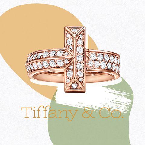 ティファニー t ワン ワイド ダイヤモンド リング