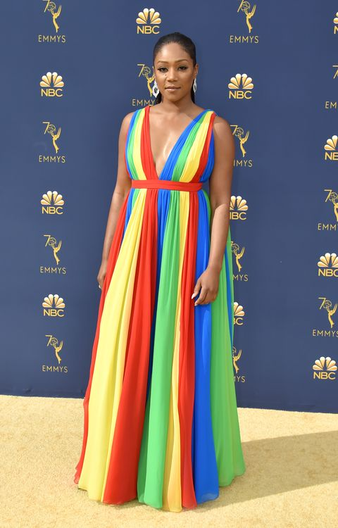 Tiffany Haddish Blesses the World in a Rainbow Dress at the 2018 ...