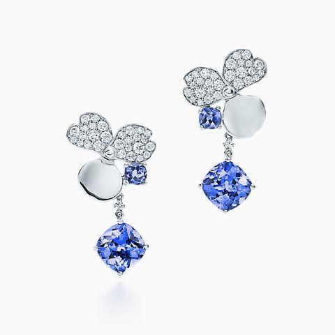 tiffany paper flowers earrings