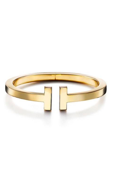 tiffany t square bracelet in 18k gold