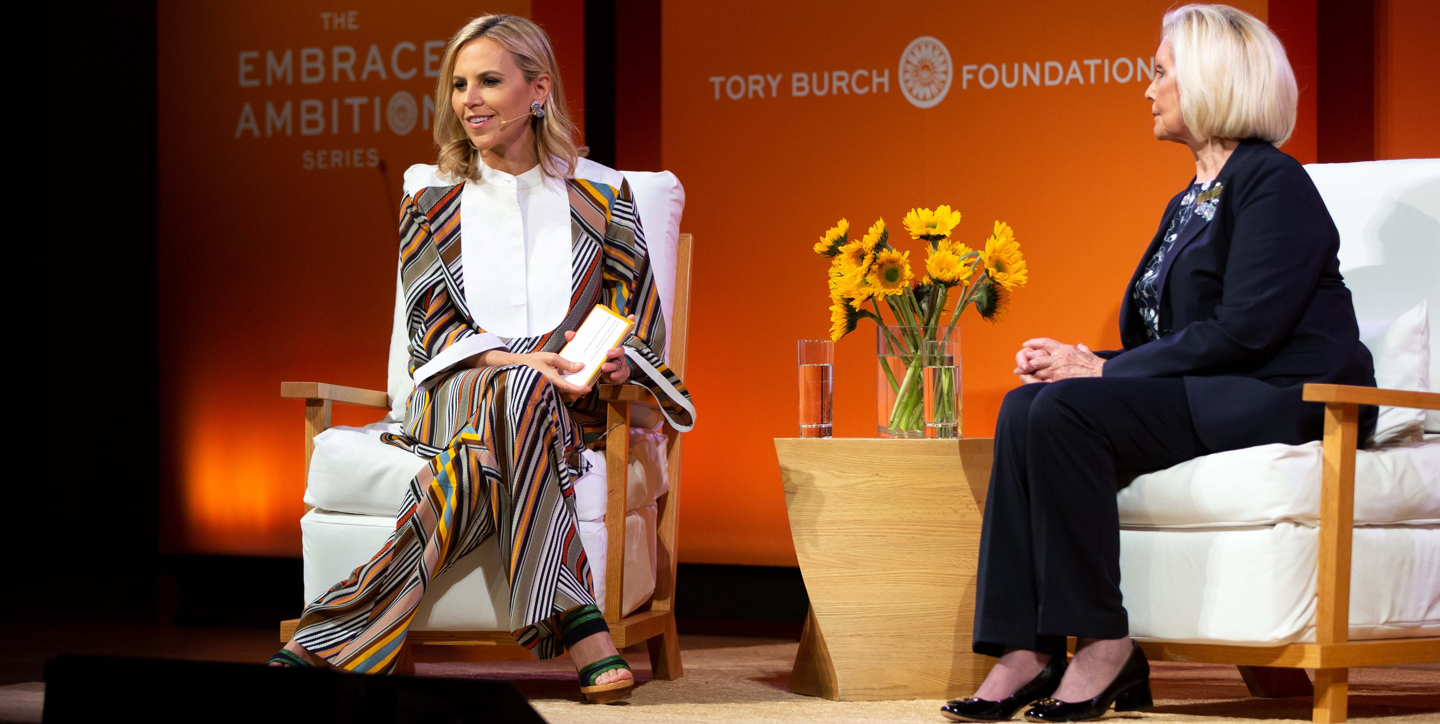 In celebration of Women's History Month, the Tory Burch Foundation hosted the Embrace Ambition Series , a week of events held in Chicago, Dallas, San Francisco, Philadelphia, and New York City. The series addressed harmful stereotypes that affect women in business, and sought to advance women's empowerment and entrepreneurship.