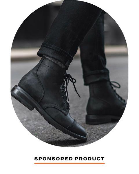 thursday boot co captain black boot