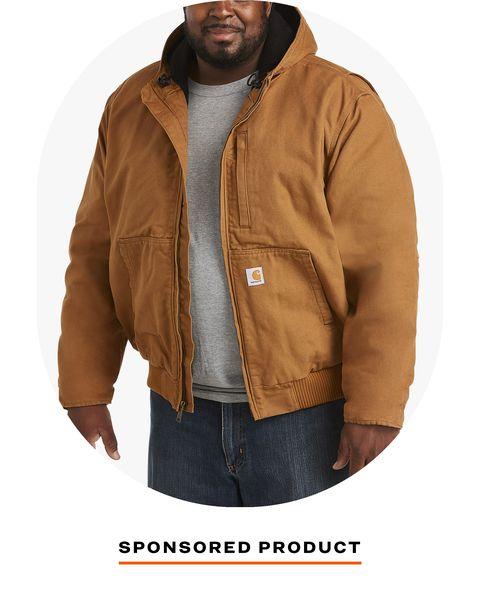 man wearing carhartt jacket