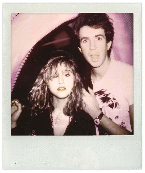 Madonna and Eric Goode, who went on to direct Netflix's Tiger King, back when he ran the iconic NYC nightclub Area.