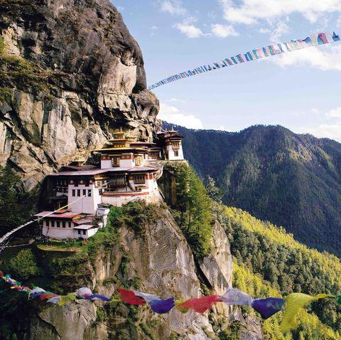 Mountainous landforms, Mountain, Hill station, Mountain range, Monastery, Valley, Tourism, Cable car, Alps, Terrain,