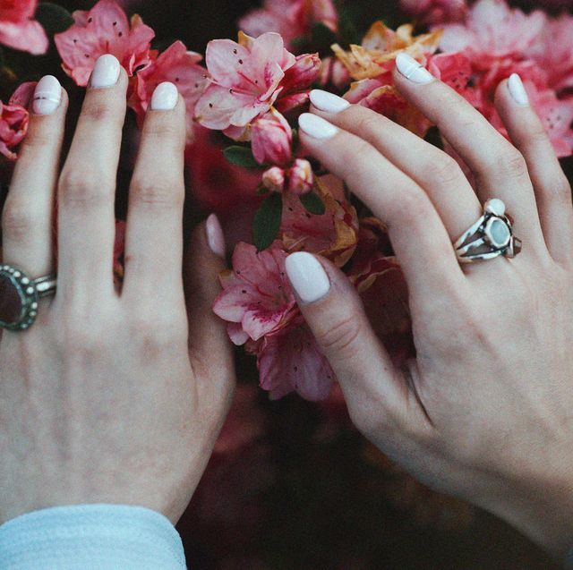 Nail, Finger, Hand, Pink, Spring, Flower, Gesture, Nail care, Manicure, Plant,