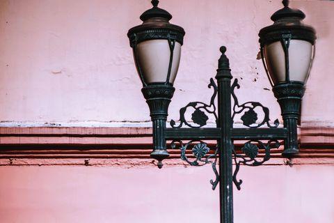Street light, Light fixture, Lighting, Wall, Lamp, Interior design,