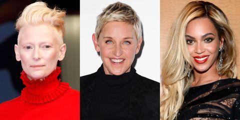 Hair, Face, Blond, Hairstyle, Eyebrow, Lip, Chin, Nose, Beauty, Cheek,