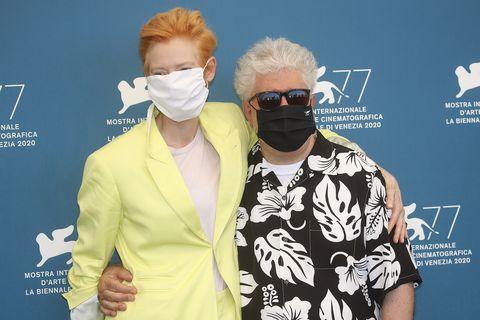 tilda swinton, pedro almodovar   the 77th venice film festival
