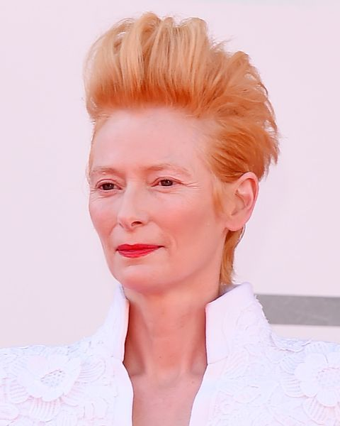 venice, italy   september 03  tilda swinton walks the red carpet ahead of the movie the human voice at the 77th venice film festival at  on september 03, 2020 in venice, italy photo by stefania dalessandrowireimage,