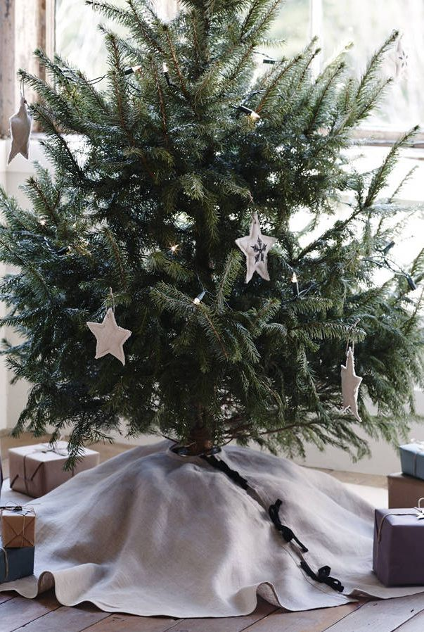 Tilly Linen Christmas Tree Skirt, Notonthehighstreet.com