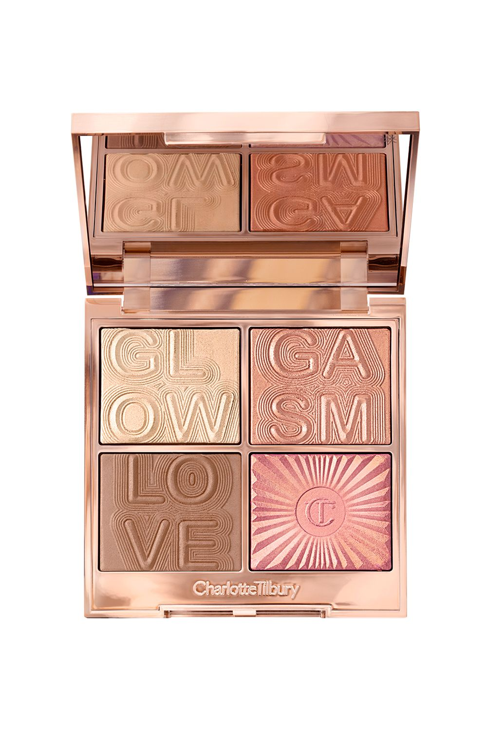 This Glowgasm Charlotte Tilbury Glowgasm Face Palette, $75 SHOP IT Honestly, this is one of those highlighters that speak for itself. One look at this lit palette is all the proof you need that these shades are seriously stunning.