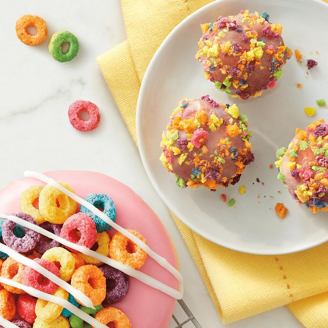 froot loops dream donut and timbits from tim hortons