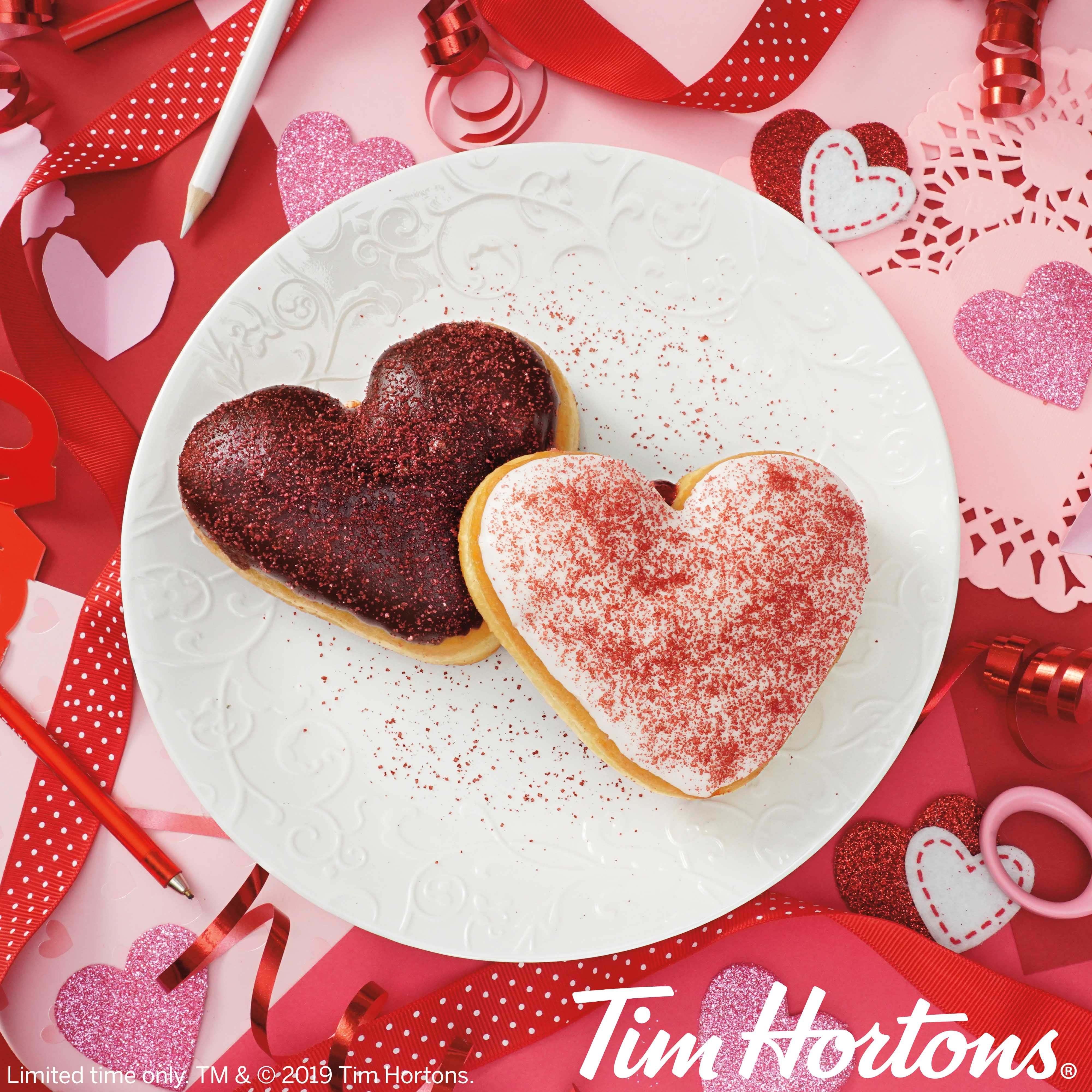 cc71f84de999 Tim Hortons  Valentine s Day Menu Includes Heart-Shaped Donuts