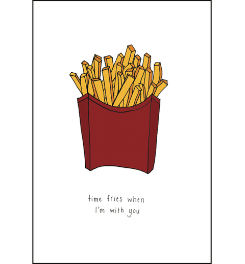 French fries, Fast food, Junk food, Fried food, Text, Side dish, Font, Illustration, Logo, Plant,