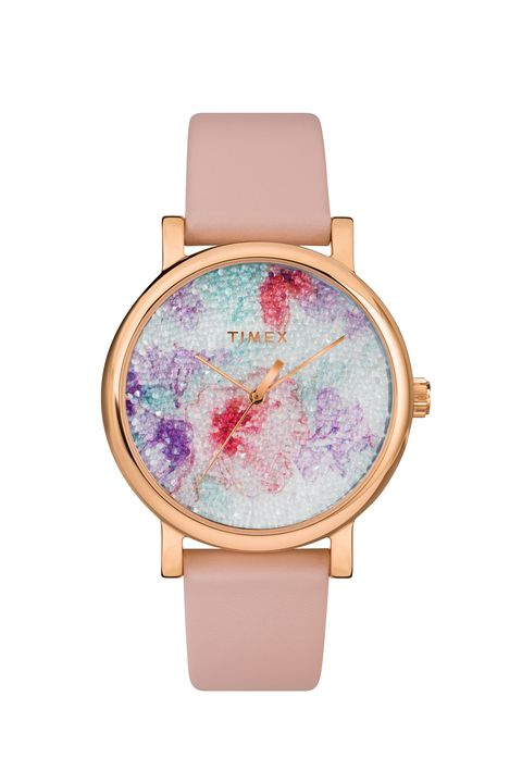 Analog watch, Watch, Strap, Product, Pink, Fashion accessory, Watch accessory, Material property, Jewellery, Hardware accessory,