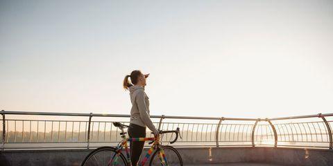 woman exercising  in morning