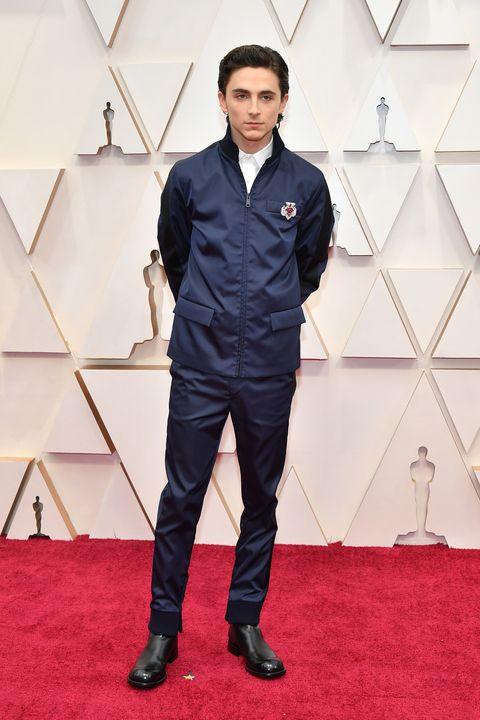 Timothée Chalamet Oscars 2020 Prada