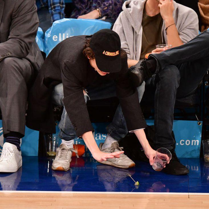 Celebrities Attend Detroit Pistons v New York Knicks