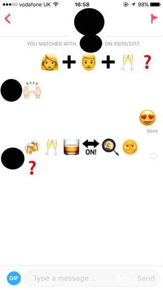 Tinder emojis meaning