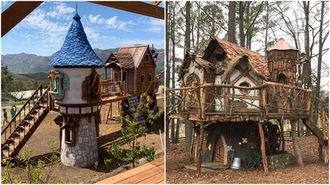 rapunzel and tinker bell tree houses