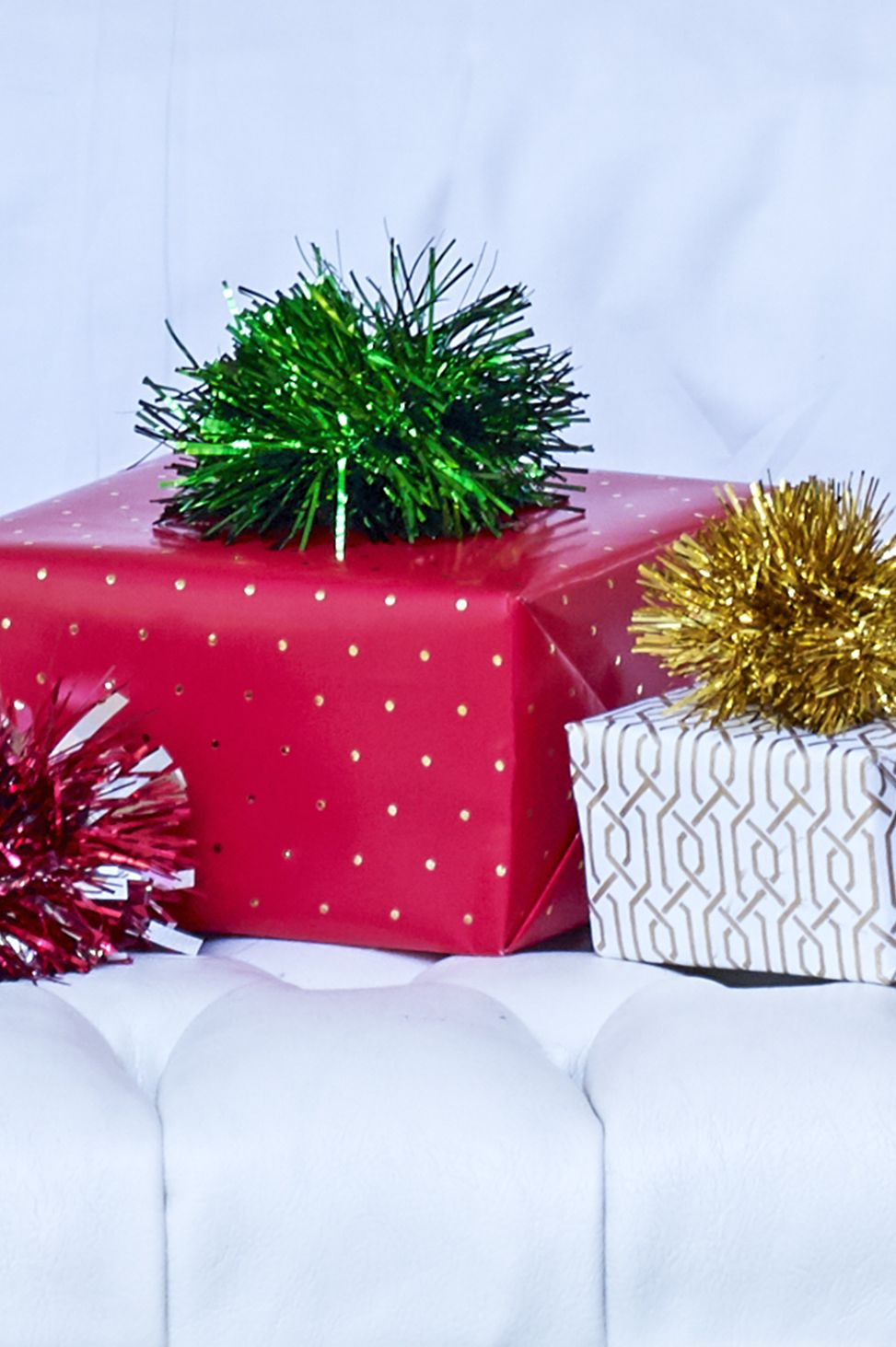gift wrapping ideas tinsel