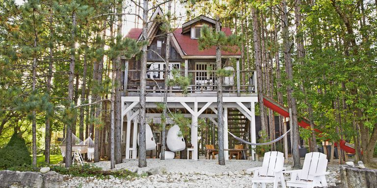 Peek Inside a 312-Square-Foot Home in the Woods—Built on Stilts!