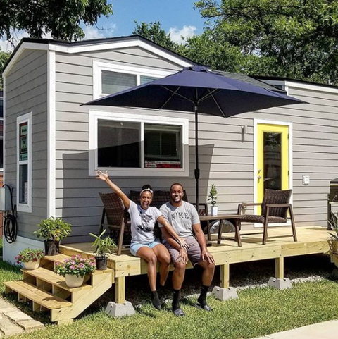 tiny house lifestyle living tiny with the bushes