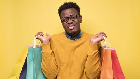 man heeft geen zin meer in winkelen