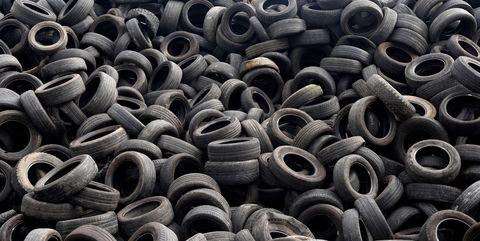 Tire, Automotive tire, Synthetic rubber, Iron, Metal, Auto part, Automotive wheel system, Pattern, Scrap, Design,