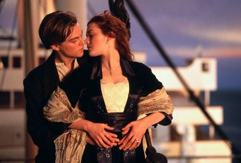 jack and rose in the titanic