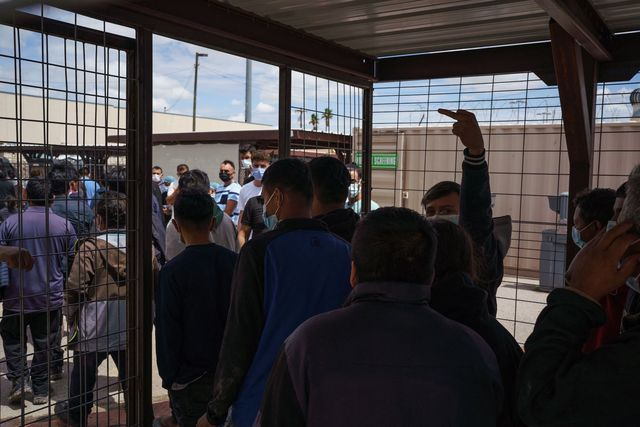 migrants are processed before being expelled to mexico under title 42, which allows for the immediate expulsion due to the coronavirus pandemic, at the paso del norte international bridge in el paso, texas on september 1, 2021 photo by paul ratje  afp photo by paul ratjeafp via getty images