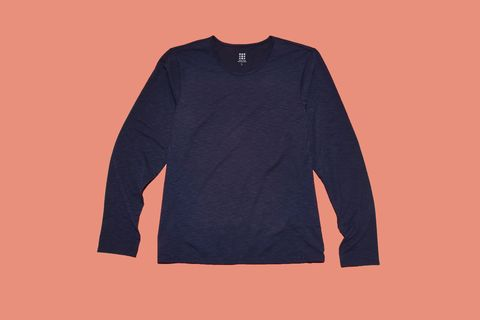Long-sleeved t-shirt, Clothing, Sleeve, T-shirt, Outerwear, Orange, Sweater, Top, Font, Shirt,