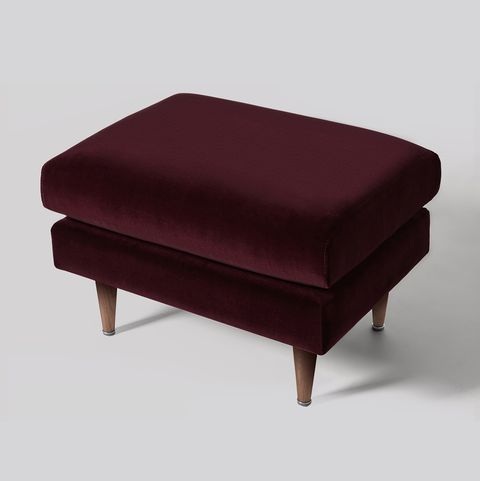 Red velvet foot stool, Swoon at Very